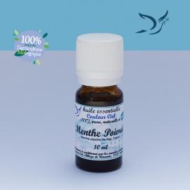 Huile essentielle bio de menthe poivrée